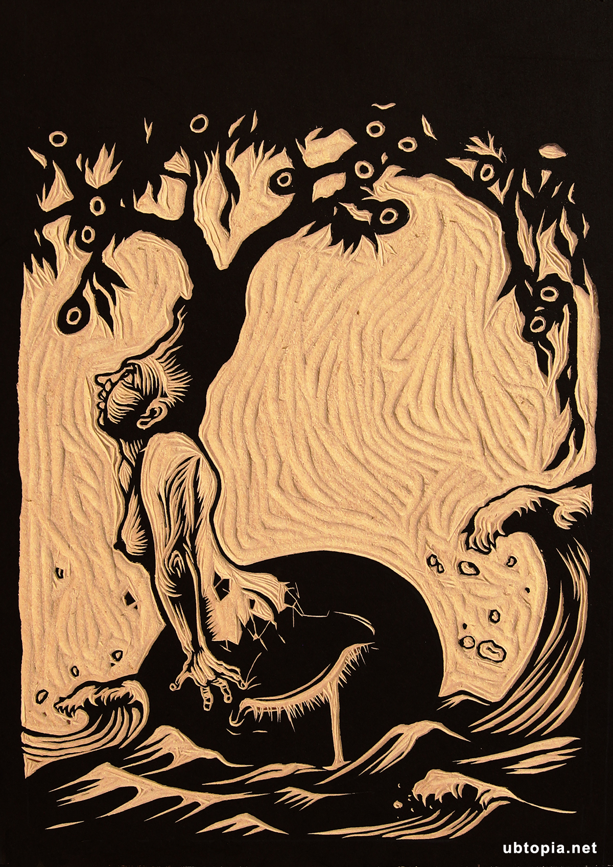 woodcut- new world