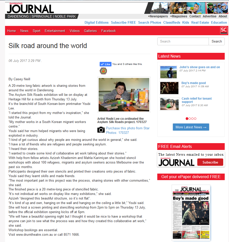 Silk Road Around The World Dandenong Journal